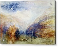 The Lauerzersee With The Mythens Acrylic Print by Joseph Mallord William Turner