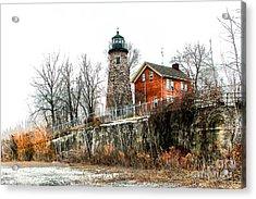 The Lighthouse Acrylic Print by Ken Marsh