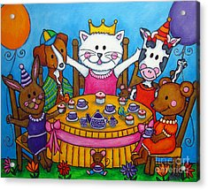 The Little Tea Party Acrylic Print by Lisa  Lorenz