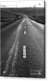 The Long Road Home . 7d9898 . Black And White Acrylic Print by Wingsdomain Art and Photography