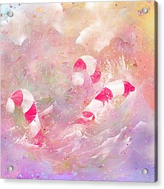 The Lost Candy Canes Acrylic Print by Rachel Christine Nowicki