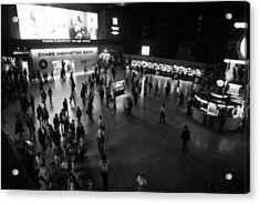 The Main Hall Of Grand Central Station Acrylic Print by Everett