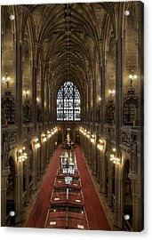 The Main Library Hall Acrylic Print by Dave Wood
