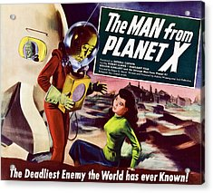 The Man From Planet X, Pat Goldin Title Acrylic Print by Everett