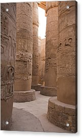 The Massive Columns In The Hypostyle Acrylic Print by Taylor S. Kennedy