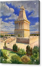 The Mausoleum At Halicarnassus Acrylic Print by English School