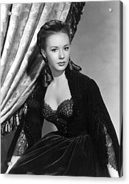 The Mississippi Gambler, Piper Laurie Acrylic Print by Everett