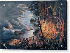 The Mississippi In Time Of War Acrylic Print by Frances Flora Bond Palmer