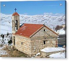 The Monastery Of Sheirobeem Acrylic Print by Issam Hajjar