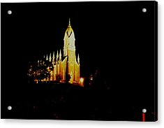 The Morman Temple In Brigham City Acrylic Print by Jeff Swan