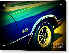 The Muscle Car Oldsmobile 442 Acrylic Print by Susanne Van Hulst