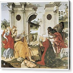 The Nativity Acrylic Print by Francesco Di Giorgio Martini