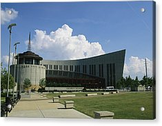 The New Country Music Hall Of Fame Acrylic Print by Stephen Alvarez