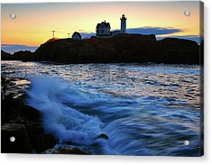The Nubble Acrylic Print by Rick Berk