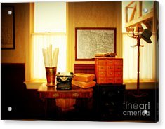 The Office Old Tuscon Arizona Acrylic Print by Susanne Van Hulst