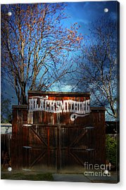 The Old Blacksmith . 7d12956 Acrylic Print by Wingsdomain Art and Photography