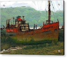 The Old Fishing Trawler Acrylic Print by Steve K