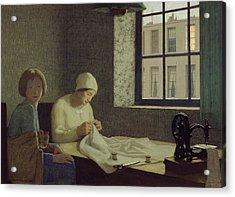 The Old Nurse Acrylic Print by Frederick Cayley Robinson