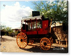 The Old Stage Coach Acrylic Print by Susanne Van Hulst