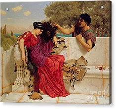 The Old Story Acrylic Print by John William Godward