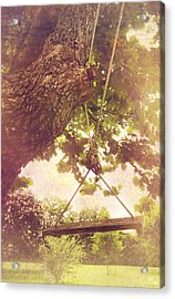 The Old Swing Acrylic Print by Susan Bordelon