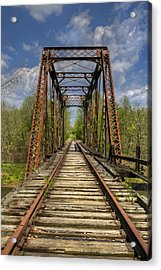 The Old Trestle Acrylic Print by Debra and Dave Vanderlaan