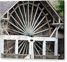 The Old Waterwheel Acrylic Print by April Wietrecki Green