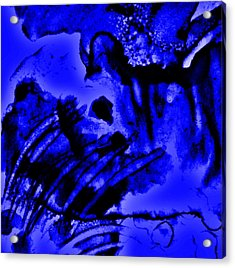 The Origins Of Blue Acrylic Print by Rory Sagner