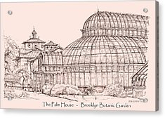 The Palm House In Pink Acrylic Print by Building  Art