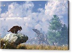 The Paraceratherium Migration Acrylic Print by Daniel Eskridge