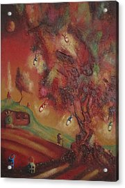 The Party Tree. Never To Be Seen Again. Acrylic Print by Joe  Gilronan