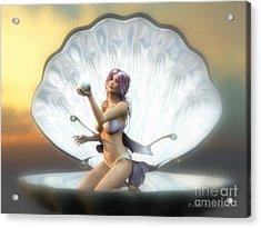 The Pearl Acrylic Print by Sandra Bauser Digital Art