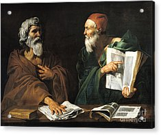 The Philosophers Acrylic Print by Master of the Judgment of Solomon