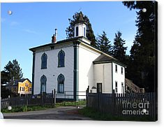 The Potter School House . Bodega Bay . Town Of Bodega . California . 7d12472 Acrylic Print by Wingsdomain Art and Photography