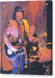The Prime Minister Of Slambovia Acrylic Print by Kenneth Young