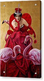 The Queen Of Hearts From Alice In Wonderland Acrylic Print by Jose Luis Munoz Luque