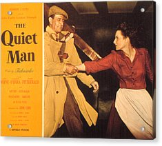 The Quiet Man, John Wayne, Maureen Acrylic Print by Everett