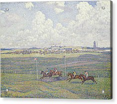 The Racecourse At Boulogne-sur-mer Acrylic Print by Theo van Rysselberghe