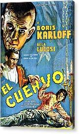The Raven, Aka El Cuervo, Top Left Acrylic Print by Everett