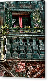 The Rear Window Venice Italy Acrylic Print by Tom Prendergast