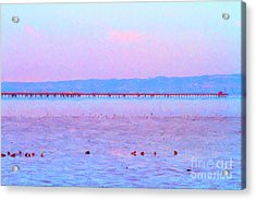 The Red Pier . 7d12310 Acrylic Print by Wingsdomain Art and Photography