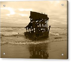 The Remains Of A Ship Acrylic Print by Kym Backland