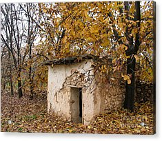 The Remote Autumn Hut Acrylic Print by Issam Hajjar