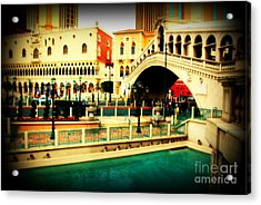 The Rialto Bridge Of Venice In Las Vegas Acrylic Print by Susanne Van Hulst