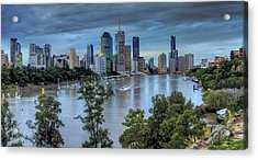 The River Commute Acrylic Print by Mark Lucey