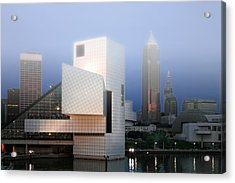 The Rock And Roll Hall Of Fame Acrylic Print by Richard Gregurich