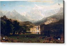 'the Rocky Mountains' By Albert Bierstadt Acrylic Print by Photos.com