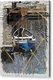 The Rowboat Acrylic Print by Tim Allen