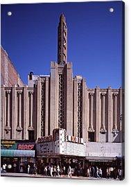 The Roxie Theater, Built By John M Acrylic Print by Everett