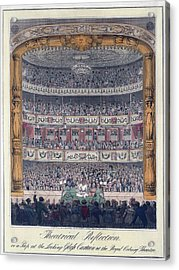The Royal Coburg Theatre And Audience Acrylic Print by Everett